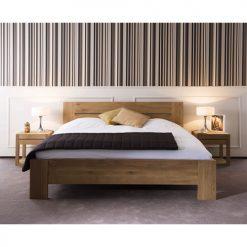 teak modern strak ledikant bed slaapkamer