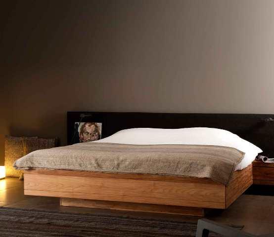modern massief teak ledikant bed strak