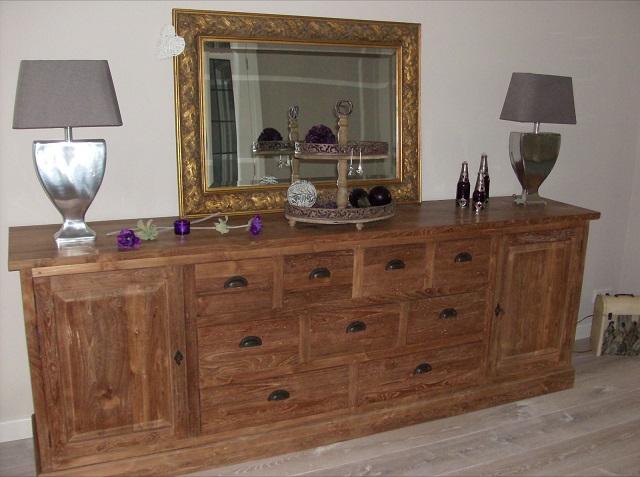 maatwerk teak dressoir