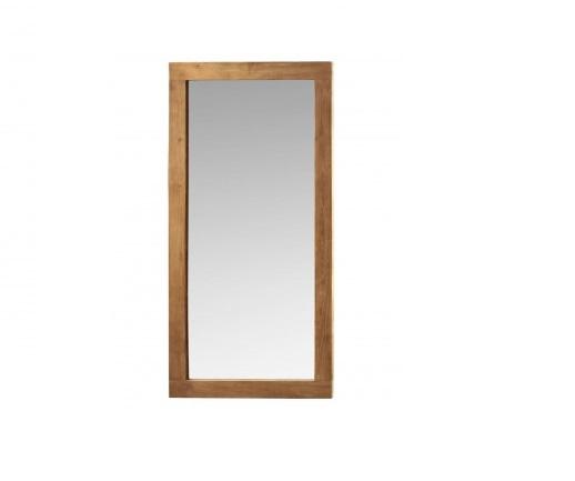 spiegel met teak lijst