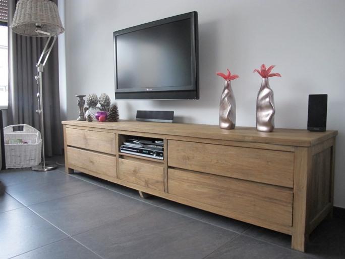 Modern teak tv meubel