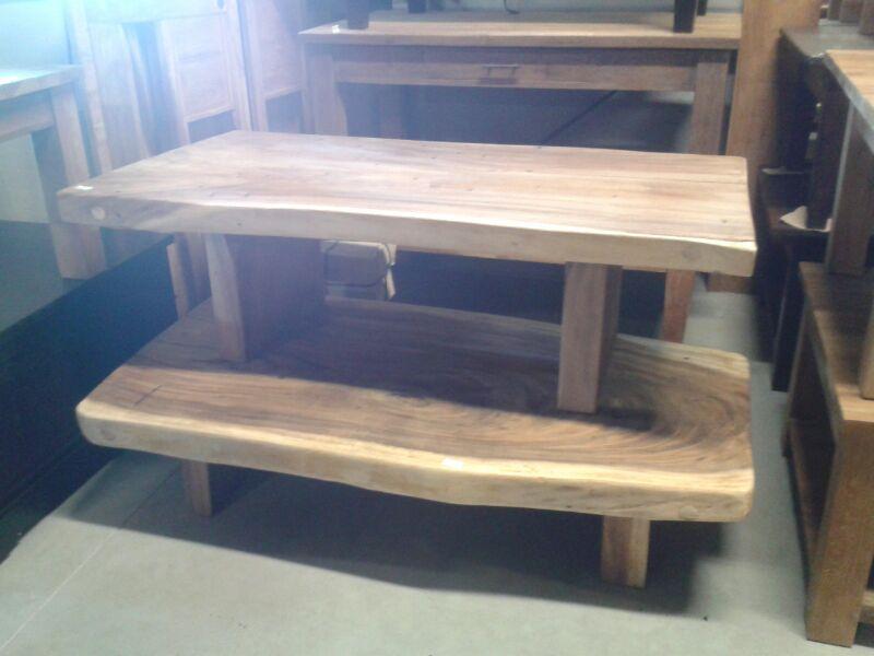 Retro tafel van een boomstam vintage woonhome for Houweling interieur outlet