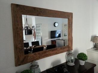 rustiek houten spiegel