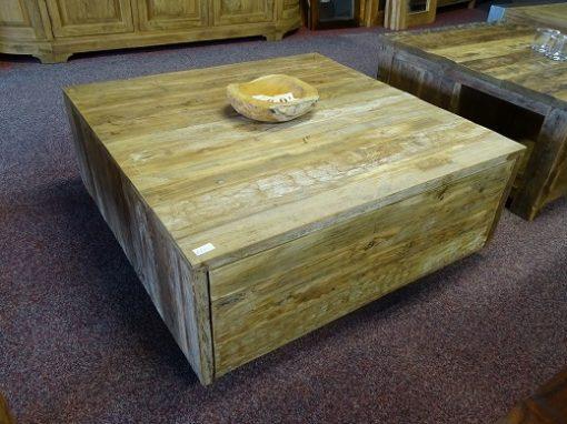 Strakke rustieke salontafel 100x100cm