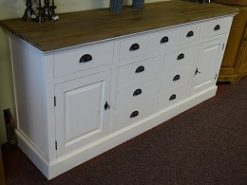 wit teak dressoir