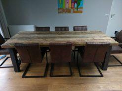 Grof houten tafel 240cm