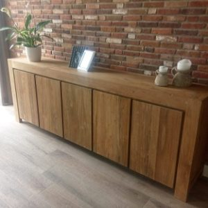 Massief teak dressoir
