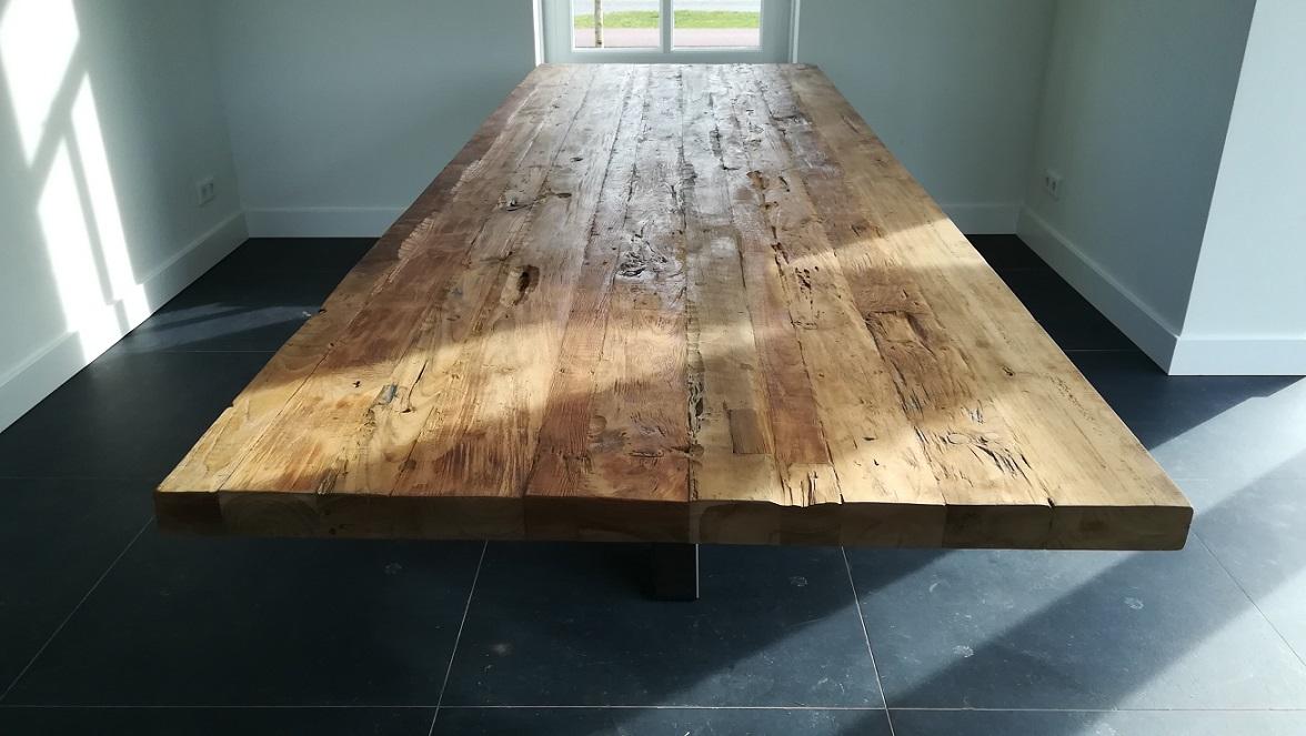Tafel 300cm met spinpoot specialist in teak maatwerk for Teakhouten tafel