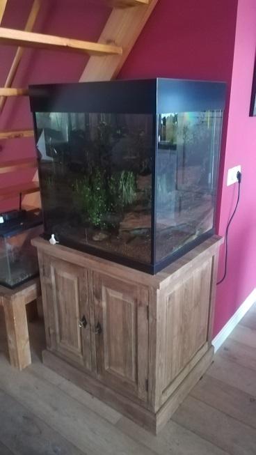Teak aquariumkast